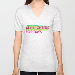 all-nighters Unisex V-Neck