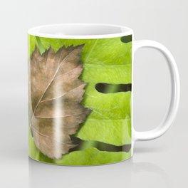Old and New Leaf Abstract Art Coffee Mug