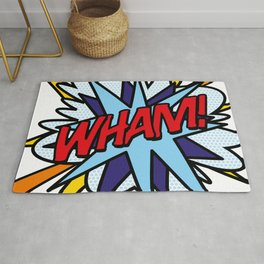Comic Book Pop Art WHAM Rug