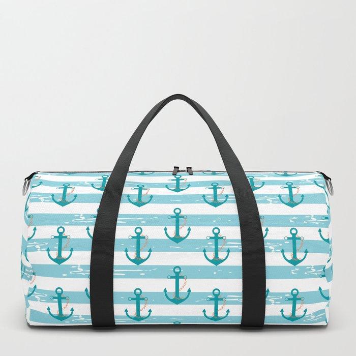 AFE Nautical Anchor Pattern Duffle Bag