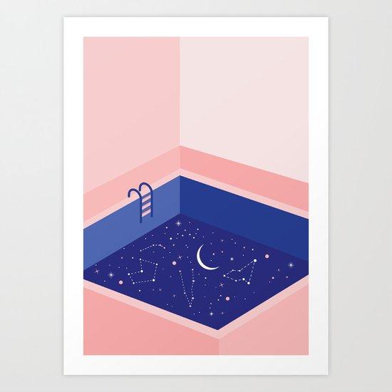 Cosmic pool Art Print