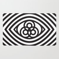 third eye Area & Throw Rugs featuring Third Eye by cmyka