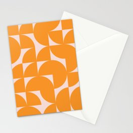 Modernist Shapes in Orange Stationery Cards