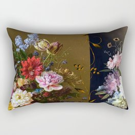 Golden age bohemian floral landscape Rectangular Pillow