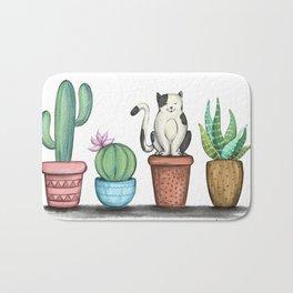 Cat and Cacti Bath Mat