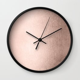 Moon Dust Rose Gold Wall Clock