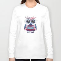 patriotic Long Sleeve T-shirts featuring Patriotic Owl by Adamzworld