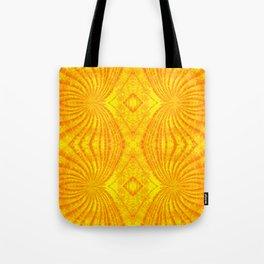 Orange Gold Sunburst Print Tote Bag