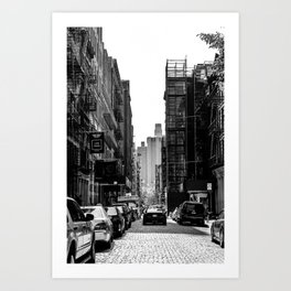 New York City Cobble Stone Street Art Print
