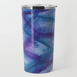 Blue Purple Crystal Travel Mug