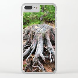 Enchanted Tree Trunk with Roots Clear iPhone Case