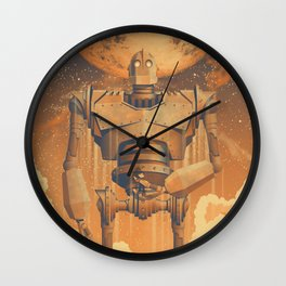 The Iron Giant Movie Poster Wall Clock