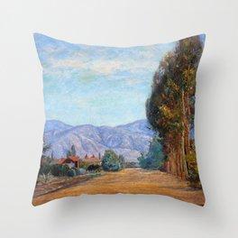 Hills Near Redlands, California - Theodore Clement Steele Throw Pillow