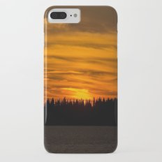 Cloudy Sunset With Forest Line - Scenic Landscape - #society6 #decor #buyart Slim Case iPhone 8 Plus