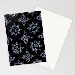 winter star hand drawn kaleidoscope Mandala Stationery Cards