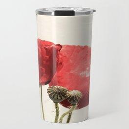 Poppies In Vase Travel Mug