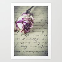 letter Art Prints featuring Love letter by Maria Heyens