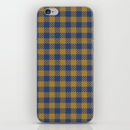 Abercrombie, Alpine, Resolution Blue, Camel, Plaid iPhone Skin