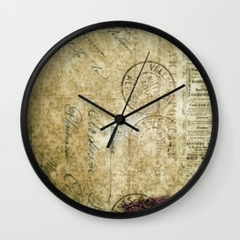 Grunge Damask IV Wall Clock