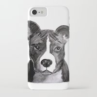 pit bull iPhone & iPod Cases featuring Pit Bull Dogs Lovers by Gooberella