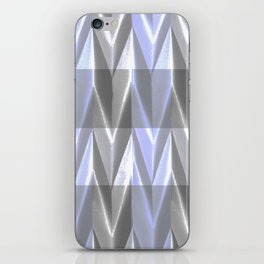 Purple Neon Grey Paper Sculpture 3D iPhone Skin