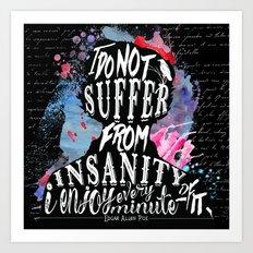 Poe - Insanity Art Print