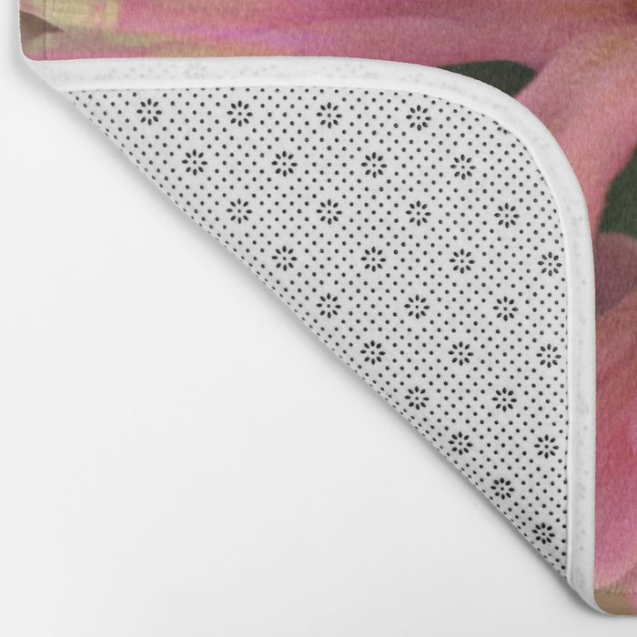 In The Pink Hyancinth Abstract  Bath Mat