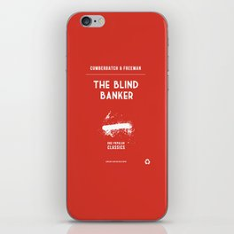 BBC Sherlock The Blind Banker Minimalist Poster iPhone Skin