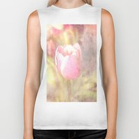 tulip Biker Tanks featuring Tulip by Elizabeth Wilson Photography