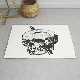 Frontal Lobotomy Skull Of Phineas Gage Vector Isolated Rug