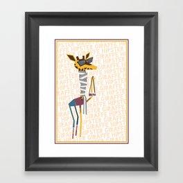 Hipster Giraffe Framed Art Print