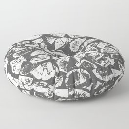 abstract pattern, Firewood texture, tree cut, gray and beige grunge wood background Floor Pillow