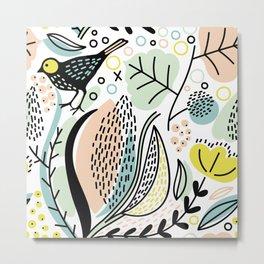 Forest birds Metal Print
