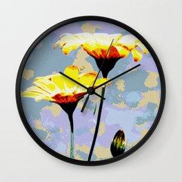 Daisys & blue sky Wall Clock