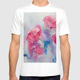 Roses in watercolor T-shirt
