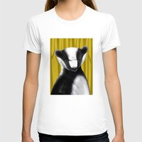 badger T-shirts featuring Badger by makoshark