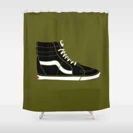 Vans SK8. Hi, Hello! Shower Curtain
