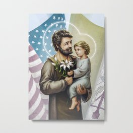 Saint Joseph The Protector Metal Print