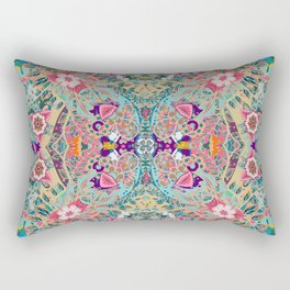 Mandala - Turquoise Boho Rectangular Pillow