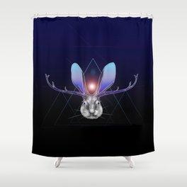 Cosmic Jackalope Shower Curtain