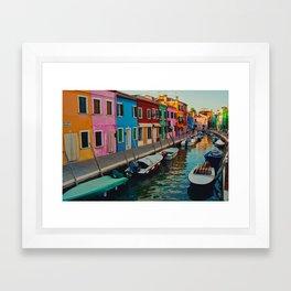 Burano Island II Framed Art Print