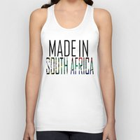 south africa Tank Tops featuring Made In South Africa by VirgoSpice