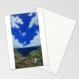 Edwardian Kite Flying Miss Stationery Cards