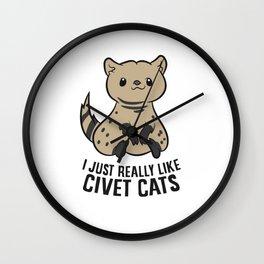 I Just Really Like Civet Cats Wall Clock