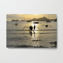 Golden Seas 2 Metal Print