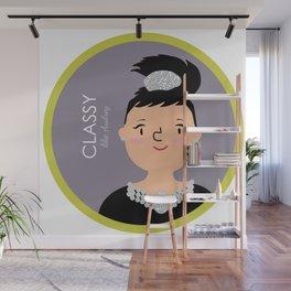 Classy like Audrey Hepburn Wall Mural