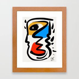P was in my head ??? Framed Art Print