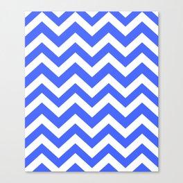 Neon blue - turquoise color - Zigzag Chevron Pattern Canvas Print