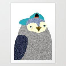 Penguin Dude, penguin art, penguin illustration, penguin, penguin print, Art Print