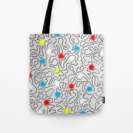 Puzzle with Spraypaint - Primary Colors Tote Bag